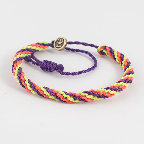 beyondBeanie quipus russian purple, colorful bracelet, summer bracelet