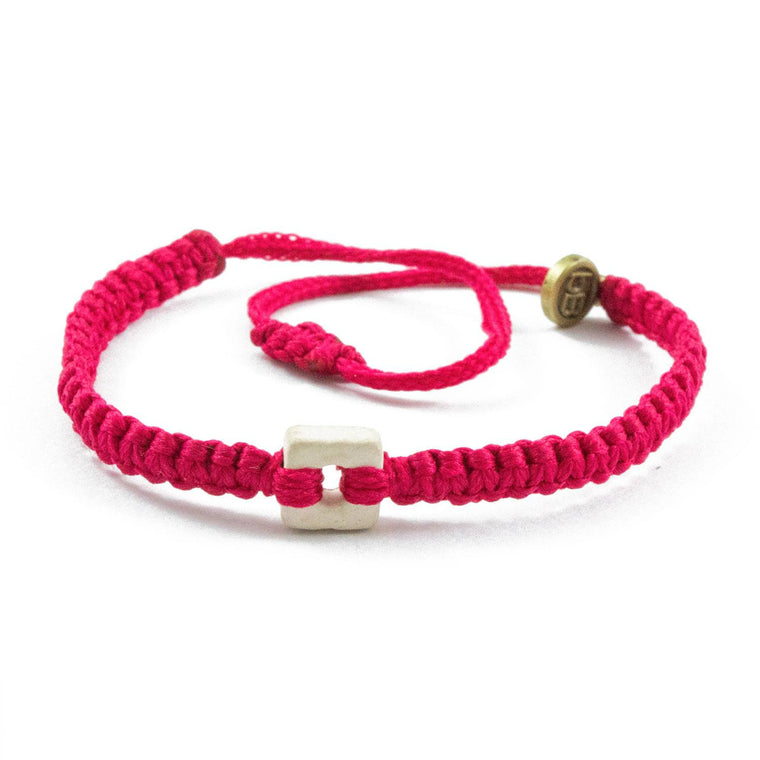 White Raymi Strawberry Pink bracelets that fight poverty cover