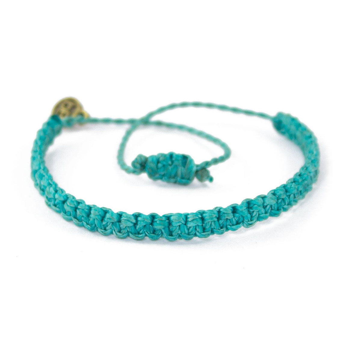 Andel Andel Bright Cyan Knotted Charity Bracelet Cover