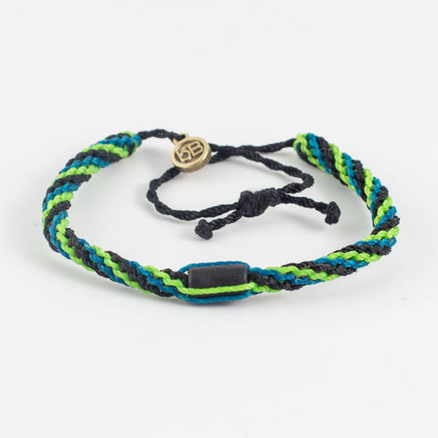 beyondbeanie black inca bright green, bracelets that fight for a cause, beach bracelet,