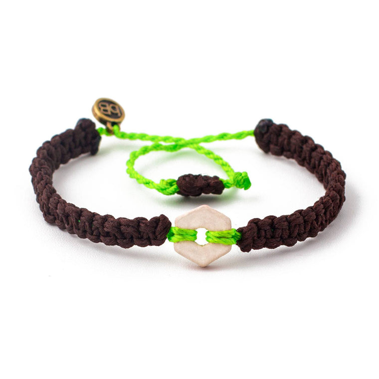 White Rustic Bright Green handmade ethnic bracelets cover