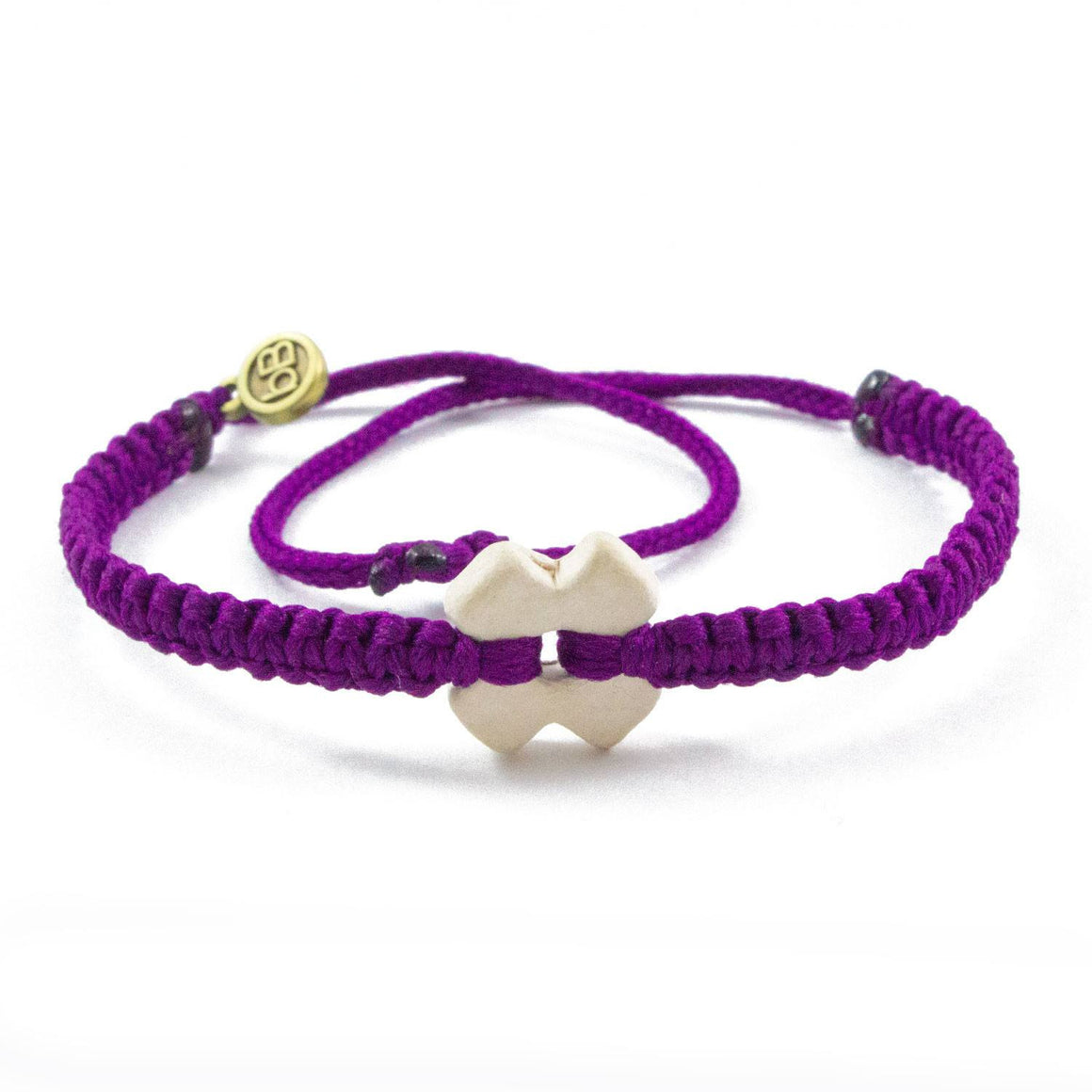 White Tinkus Violet Purple donation bracelets cover