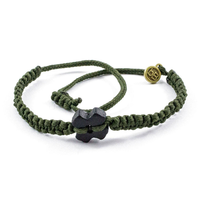 Black Tinkus Military Green donation bracelets cover