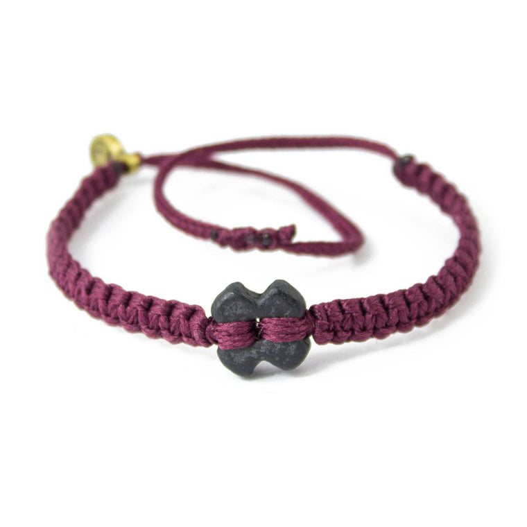 Black Tinkus Wine Purple donation bracelets cover