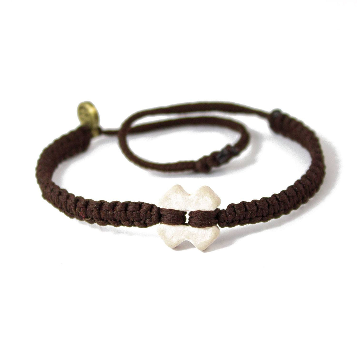 White Tinkus Chocolate Brown donation bracelets cover