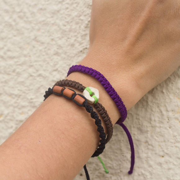 Andel Violet Purple Knotted Charity Bracelet Cover