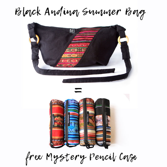 Black Andina Summer Bag + Mystery Pencil Case