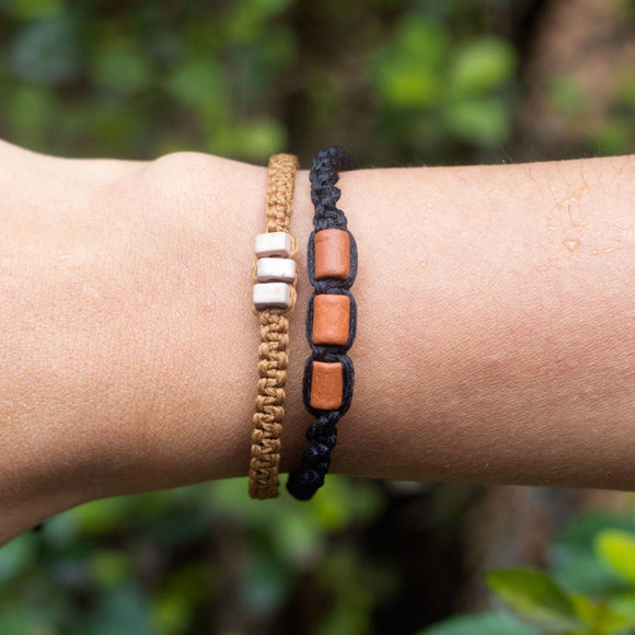 Brown Misky Carbon Black hippie bracelets cover
