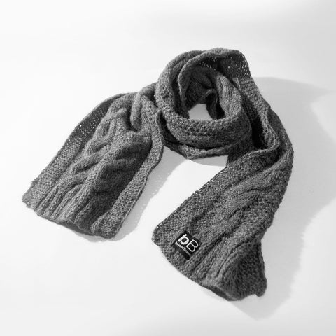 beyondBeanie bB grey cosmos scarf, winter scarf. fashion for a cause