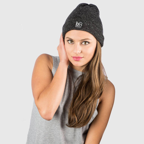 Grey Solid, Winter Beanie, Snow Beanie