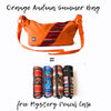 Orange Andina Summer bag + Mystery Pencil Case