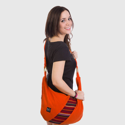 beyondBeanie bB orange andina bag, shoulder bag, trendy bag