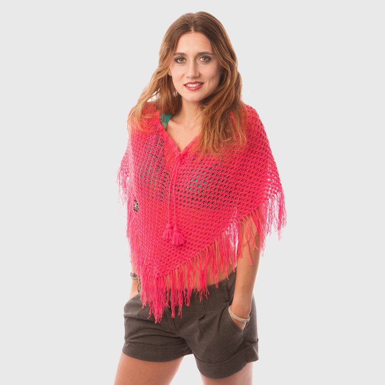 beyondBeanie bB watermelon sajama poncho, fashion for women, handcrafted ponchos, ethnic ponchos