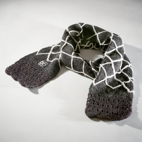 beyondBeanie beyond beanie bB black web scarf fair trade scarf