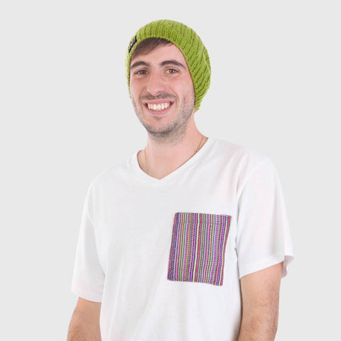 beyondBeanie beyond beanie bB green pacha, beanie for men, charity beanie