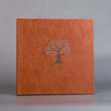 SIF009 Tree Hazelnut Leather Family Photo Album