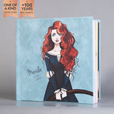 SIF007 Merida Ocean Blue Leather Portrait Photo Album