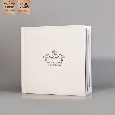 SIF042 Rose and Leaves Snow White Photo Album Design