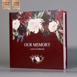 SIF039 Our Memory Burgundy and Blush Floral Wedding Photo Album