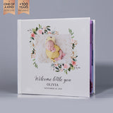 SIF047 Classic Welcom Little You Floral Hard Cover Baby Photo Album