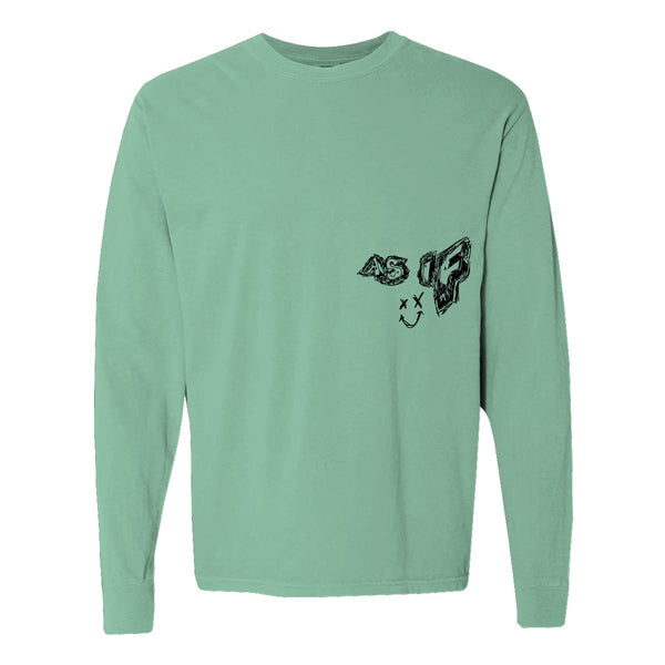 Jaden Hossler AS IF Mint Green Long-sleeve Tee