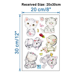 Cute Cartoon Cat Animal Multi-Function Stickers 6pcs/lot