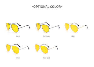 Adults New Night Vision Glasses Driving Yellow Lens