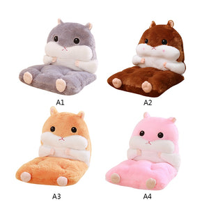 Lovely Cartoon Warm Detachable  Hamster Back Cushion & Chair Mat Pillow