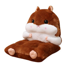 Load image into Gallery viewer, Lovely Cartoon Warm Detachable  Hamster Back Cushion & Chair Mat Pillow