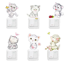 Load image into Gallery viewer, Cute Cartoon Cat Animal Multi-Function Stickers 6pcs/lot