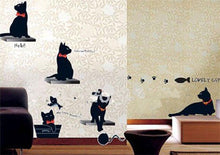 Load image into Gallery viewer, Modern Cute Cartoon Animal Black Cat Wall Sticker