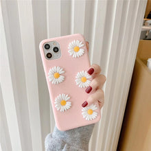 Load image into Gallery viewer, Korea Cute 3D Little Daisies Flower Soft Phone Case for Apple & Samsung