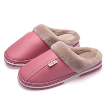 Load image into Gallery viewer, Winter Classic Adult Fur Leather Warm Soft Comfort Nonslip Home Slippers