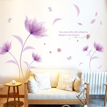 Load image into Gallery viewer, Lovely Romantic Purple flowers Wall Sticker