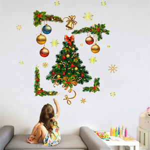 Christmas Festival Home Window Glass Wall Sticker Decoration