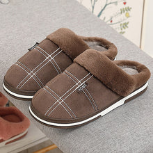 Load image into Gallery viewer, Winter Men Cozy Velvet Warm Comfort Waterproof Fur Non-Slip Slippers