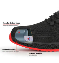 Load image into Gallery viewer, Men Comfort Safety Lightweight Puncture-Proof Breathable Steel Toe Working Footwears.