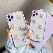 Load image into Gallery viewer, Apple IPhone 3D Cute Purple Border Daisy Flower Phone Case