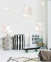Load image into Gallery viewer, Nordic Style Lovely Elephant Animal Cloud Wall Stickers