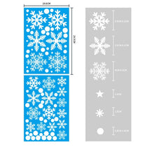 Load image into Gallery viewer, New Year X'mas White Snowflake Sticker Glass Window / Door