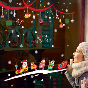 New Year Christmas Santa Claus Window & Wall Stcikers