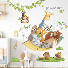 Load image into Gallery viewer, Cartoon Giraffe Wall Stickers