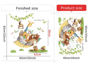 Cartoon Giraffe Wall Stickers