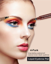 Load image into Gallery viewer, Natural Cosmetic Long Lasting Waterproof  4 Fork Tip Eyebrow Tattoo Pencil