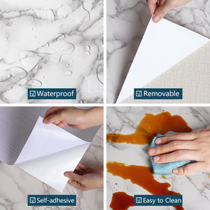 Multifunction Waterproof Oil-proof Marble Self Adhesive Wall Stickers