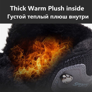 Adult Super Warm Plush Boots Waterproof Outdoor Non-slip Hiking Snow Boots