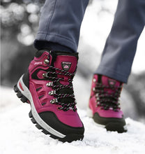 Load image into Gallery viewer, Adult Super Warm Plush Boots Waterproof Outdoor Non-slip Hiking Snow Boots