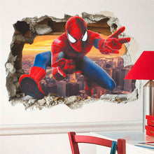 Load image into Gallery viewer, Hero Spiderman 3D Effect Wall Stickers for Kids Room