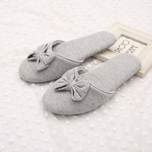 Load image into Gallery viewer, Autumn/Winter Lovely Bowtie Ladies Warm Soft Bottom Cotton Slipper