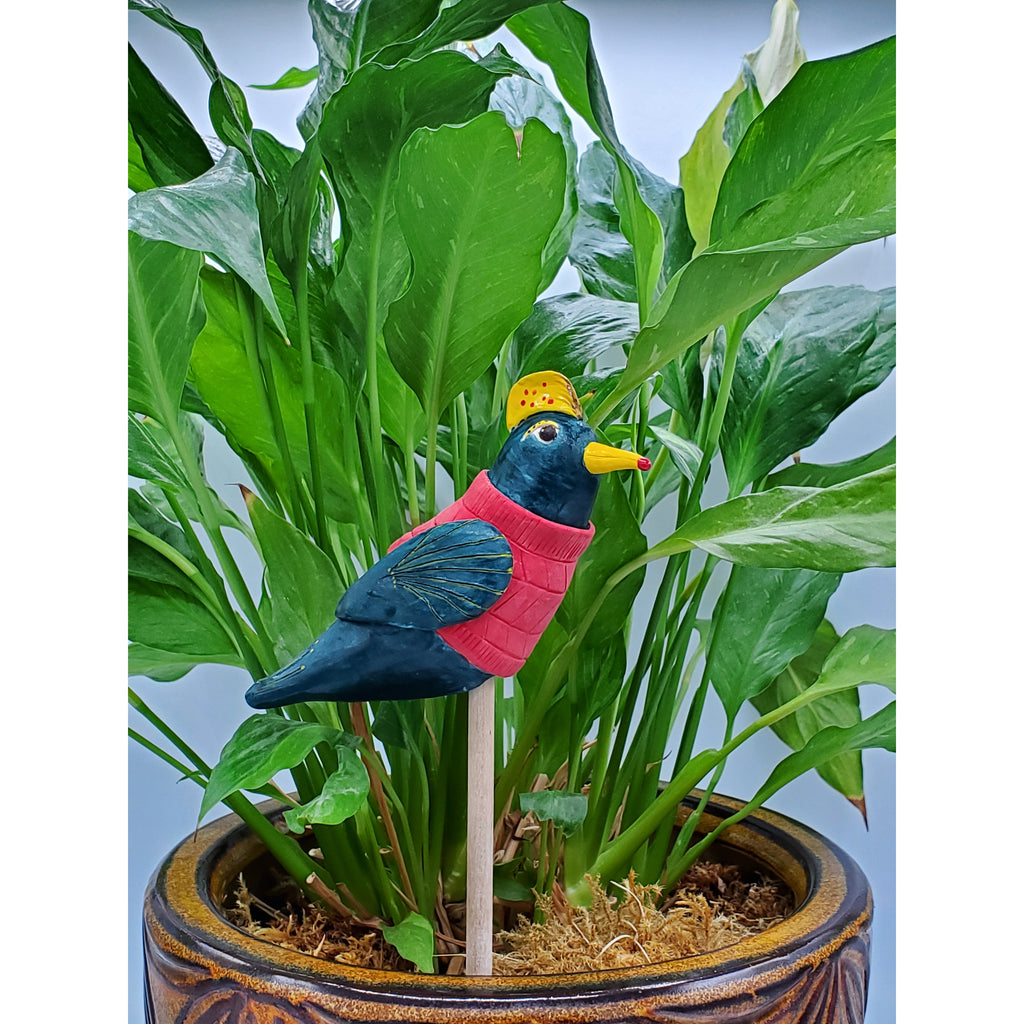 Planter Bobble George Handmade Clay Bird Michele Dupas